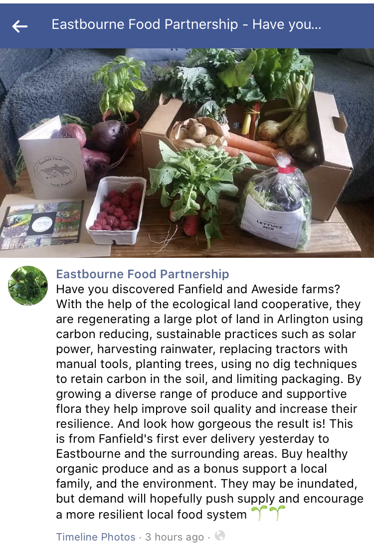 Eastbourne Food Partnership Fanfield Farm
