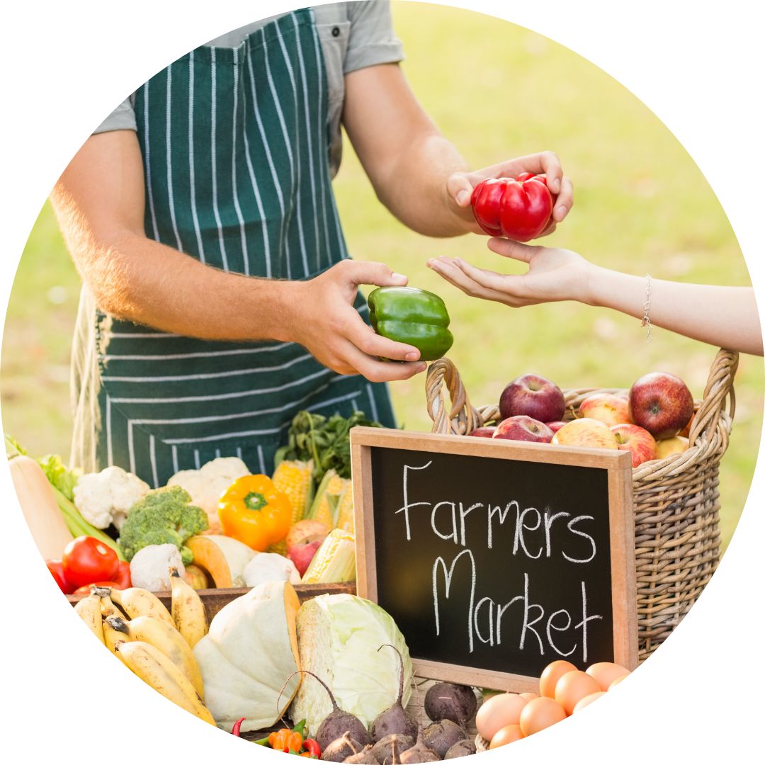 Farmers Market Circle Image