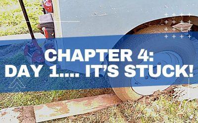 4.) Day 1…. it's stuck!